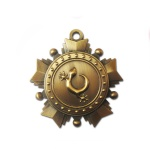 3D Antique Brass Medal